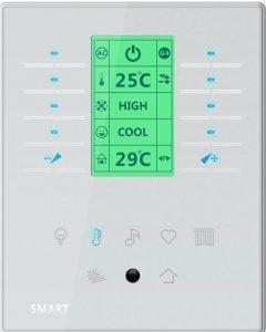 کلید هوشمند ترموستاتیک برای کنترل روشنایی و سیستم گرمایش سرمایش